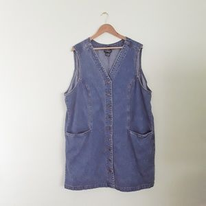 Vintage Style & Co. Denim Jumper Dress